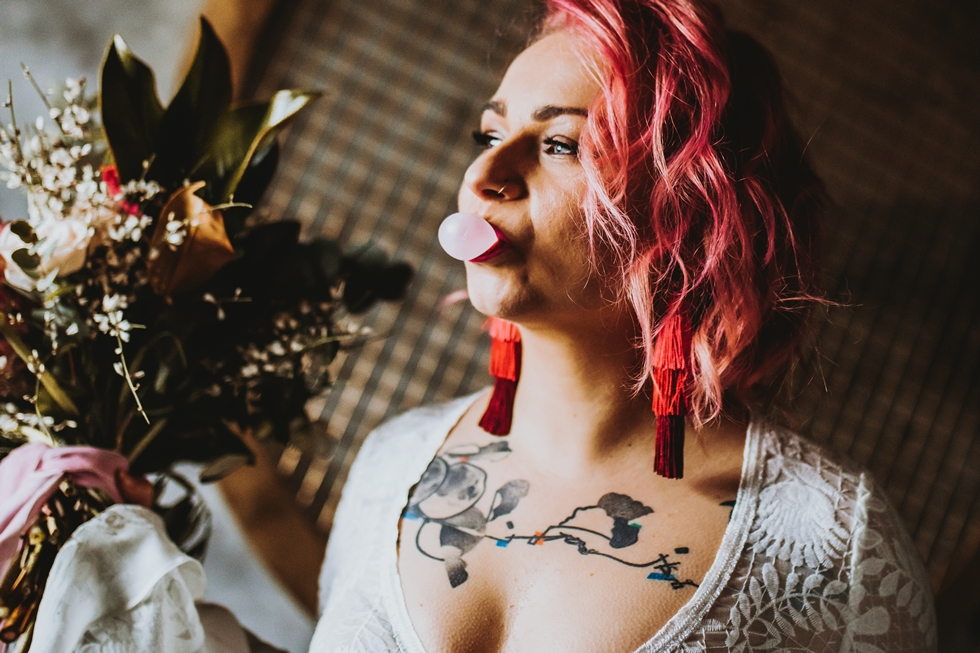 hipster bride tattoo